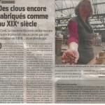 Article d'Orianne Maerten publié dans le Courrier Picard le 8 octobre 2012