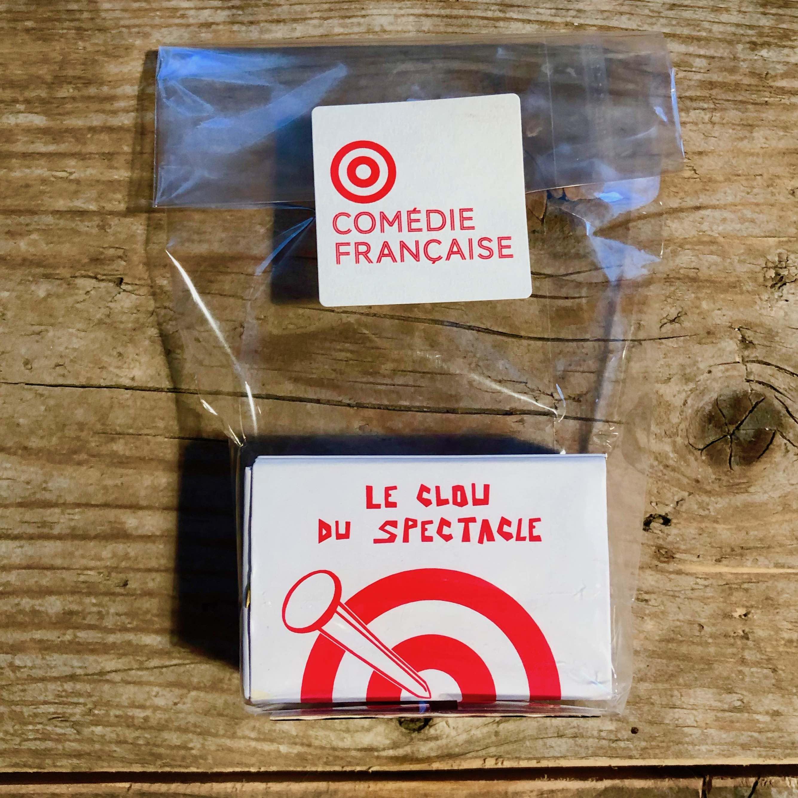 Boîte de clous Rivierre vendue par la Comédie Française